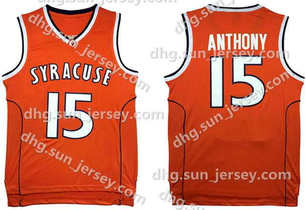 2019 NCAA Syracuse College  15 Carmelo Anthony Basketball Jersey Orange  Men S Embroidery Stitched Jerseys Cheap Wholesale From Welove jersey e67782163