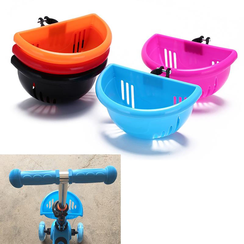 1Pc Basket Plastic Bicycle Bag For Children Different Colors Handle Bar Basket
