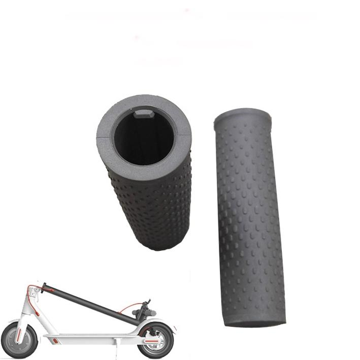 iXium/® Handle Bar Cover Grips Retro White Rubber Texture City Cycle Bicycle Accessory