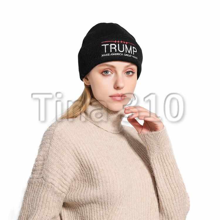 Us presidential election 2020 trump supporters trump propaganda hat autumn and winter new knit hats thermal casual wool hats T3I5286