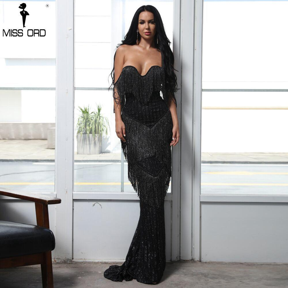351fd2b96db40 2019 Missord 2019 Sexy Bra Off Shoulder Backless Dresses Female Tassel Glitter  Maxi Elegant Party Dress Vestdios FT8303 Y190117 From Jinmei01
