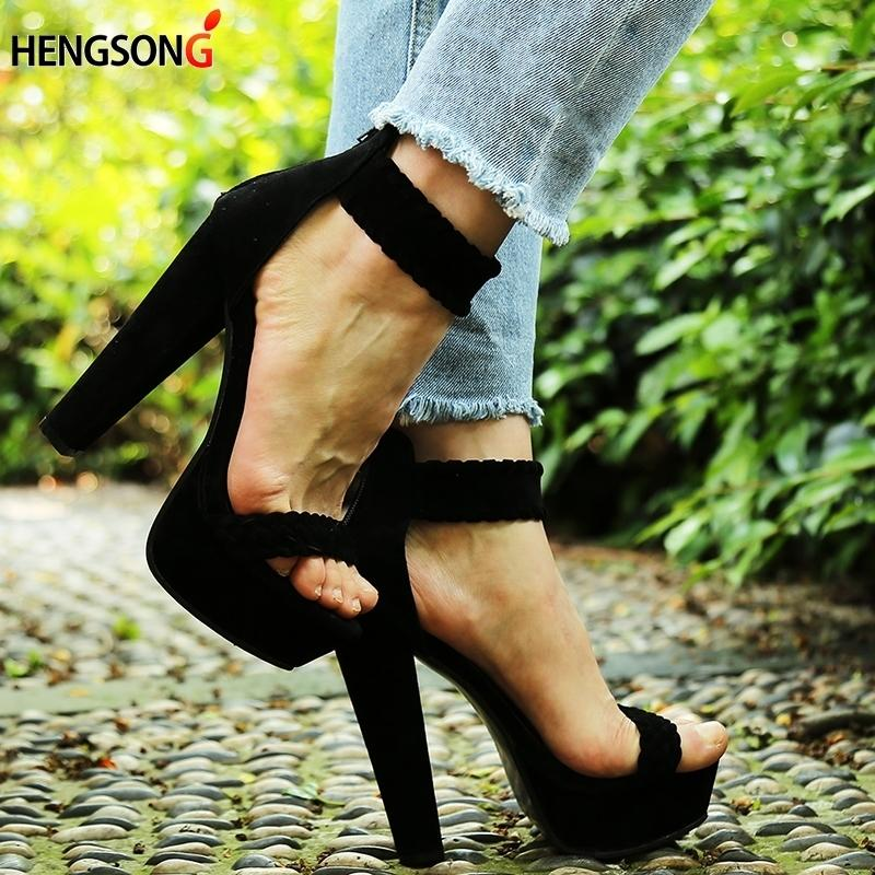 High Women 16 Sandals New Sexy Pumps Heel Party 2019 Fashion Shoes cA4RjLq35S