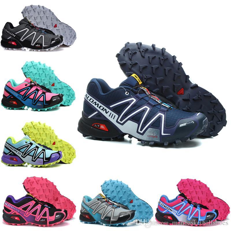 quality design 30243 7825f New 2019 Salomon Speedcross 3 CS White Black Pink Red Runner Blue Running  Shoes For Men Women Jogging Athletic Shoes Mens Sports Sneaker Best Running  Shoes ...