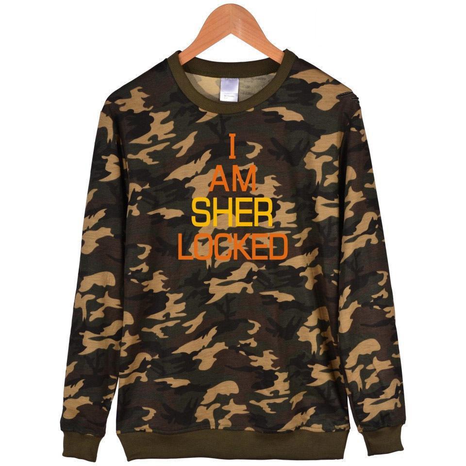 Schwarz Kleidung Fans Baumwolle Oberflächliche Männer Sherlock Und Frauen Khaki Camouflage 2019 Hoodies Holmes VLMpSUqzG