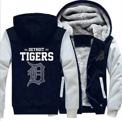 on sale 33ed8 b3f49 winter hoody Detroit Tigers baseball team Men women Warm Thicken Hoodies  autumn clothes sweatshirts Zipper jacket fleece hoodie streetwear
