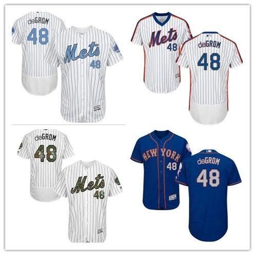 3a1e896c5 2019 2018 New York Mets Jerseys  48 Jacob DeGrom Jerseys Men WOMEN YOUTH  Men S Baseball Jersey Majestic Stitched Professional Sportswear From ...