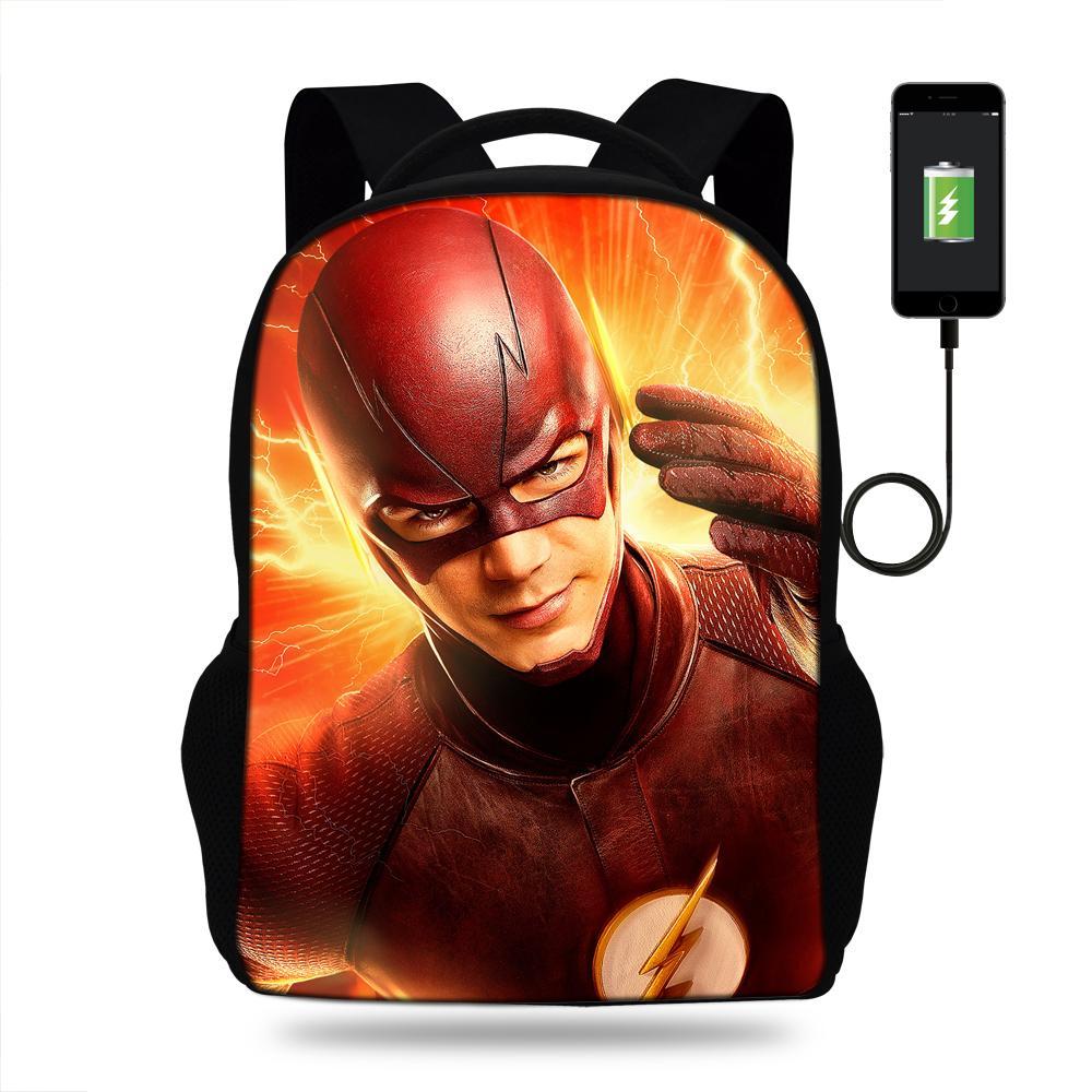 16-Inch Hot Sale Superhero Print Multiple Functional Bag For Teens ... f5cd57179850e