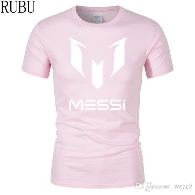 dea15b9ada7 2019 Mens Designer T Shirts Summer Brand 100% Cotton Barcelona MESSI Men T  Shirt Tops Casual Short Sleeve T Shirts Plus Size S 3XL Humor T Shirts  Funky T ...