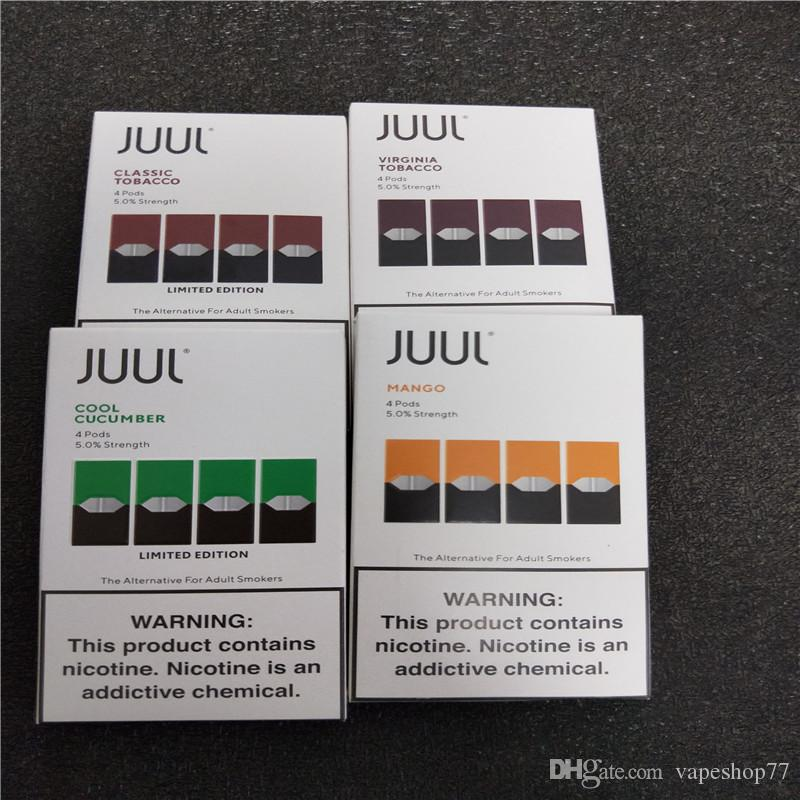 2020 BEST SELLING juul pods for juul vaporizer kit No Leak 4 juul pod in a  pack pods Cartridge Vaporizer 8 vapors