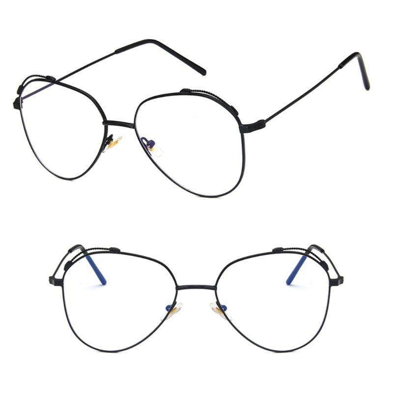 e2298303672e6 2019 Vintage Optical Glasses Fashion Pilot Aviation Lightweight Metal Frame  Retro Clear Lens Transparent Thin Legs Unisex Trend From Ericgordon