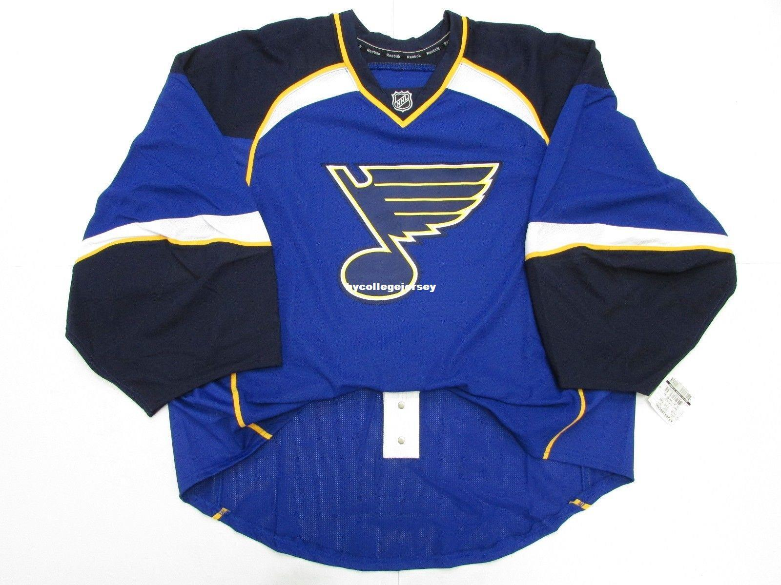 timeless design 23f42 65dce Cheap wholesale Custom ST. LOUIS BLUES HOME TEAM ISSUED EDGE JERSEY GOALIE  CUT 60 Mens Stitched Personalized hockey Jerseys