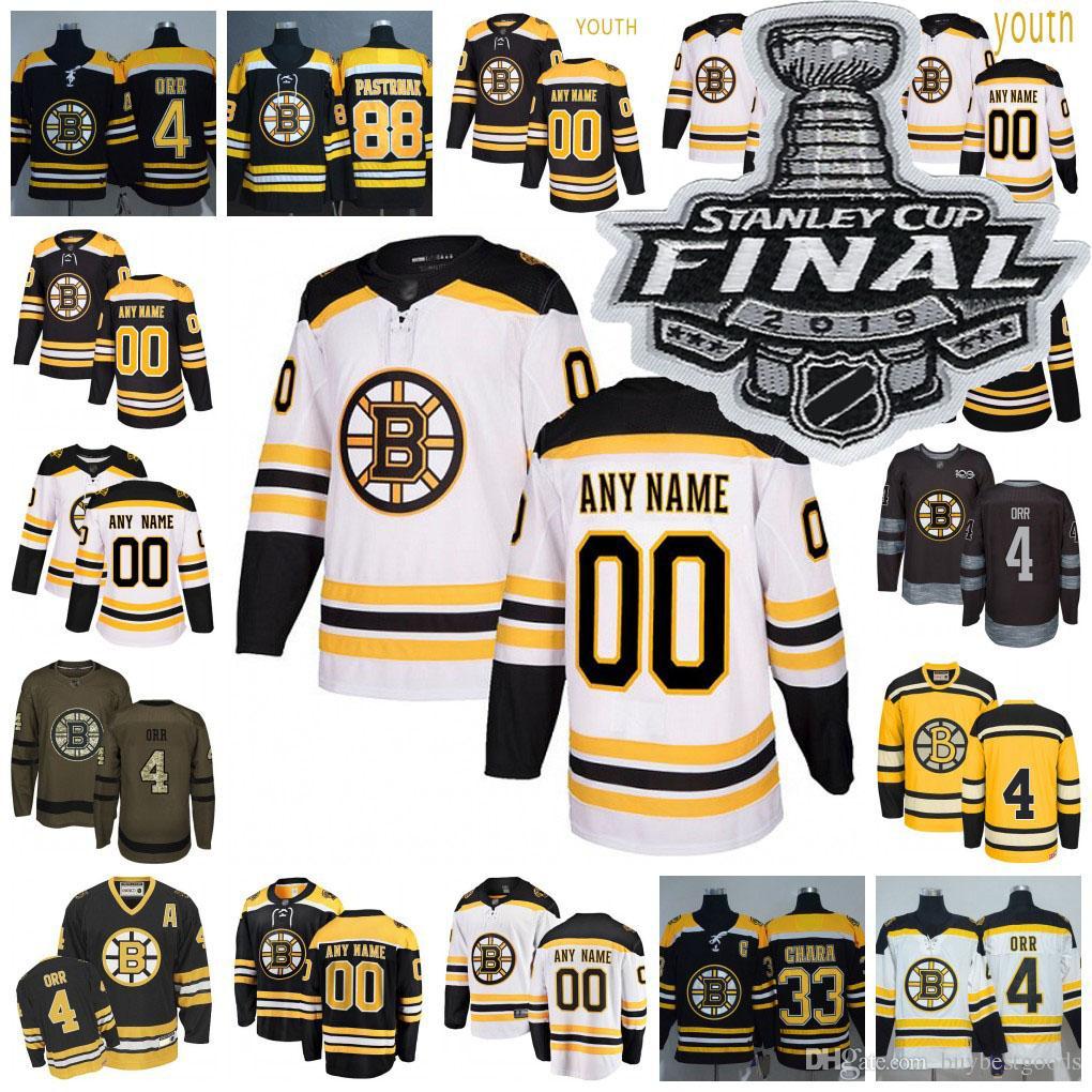 best website 4b51d 96682 Custom Boston Bruins Jersey Brad Marchand Patrice Bergeron Zdeno Chara  David Pastrnak Charlie Coyle Hockey Jerseys Men Women Youth