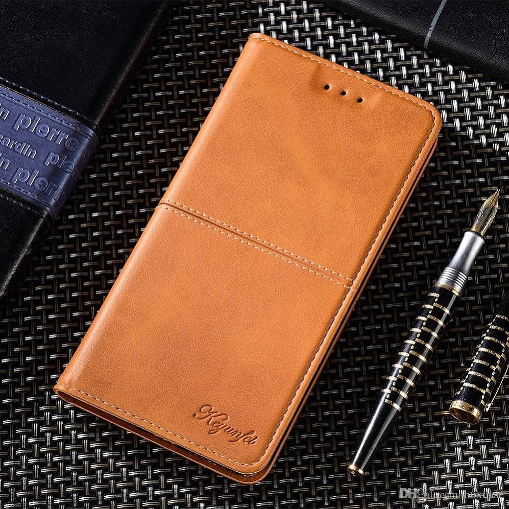 Luxury Leather Wallet Flip Case for Xiaomi Mi 8 Lite Se 6 A1 A2 Oneplus 6 6T Cover with Card Slots/Kickstand