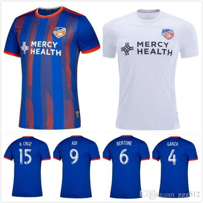 0fcc79cd 2019 men FC Cincinnati home soccer jerseys MLS jerseys 2019 2020 adult  GARZA BERTONE ADI A.CRUZ home football Shirt Running Jerseys