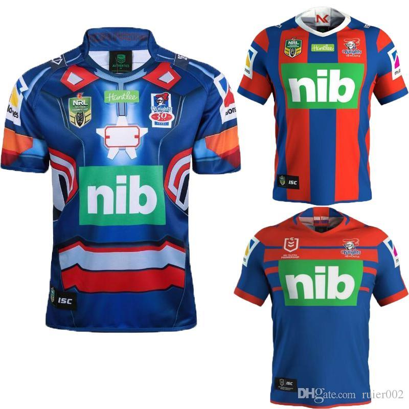 detailed pictures 6a580 2114b AAA+Top quality 2018 2019 new NEWCASTLE KNIGHTS home rugby Jerseys NRL  National Rugby League KNIGHTS shirt nrl jersey shirts s-3xl
