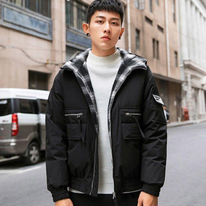 Winter Warm Jacket Men Hooded Slim Casual Coat Cotton-padded Jacket Parka Overcoat Hoodie Thick Coat Men's Clothing