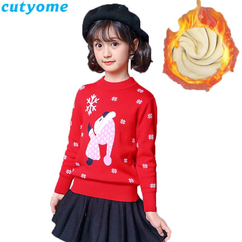 c505f7f36 Baby Girls Winter Sweater Toddler Kids Cotton Casual Pull Noel ...