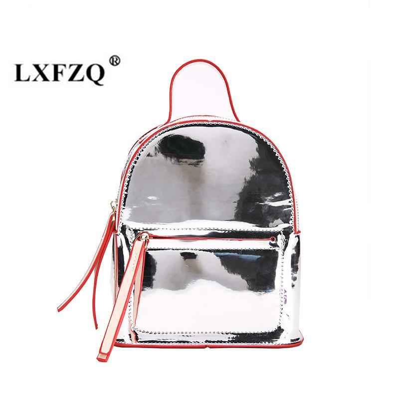 Lxfzq New School Bags Fashion Hologram Bag Reflective Small Backpack For Girls Holographic Backpack Laser Multicolor Sac A Dos Y190530