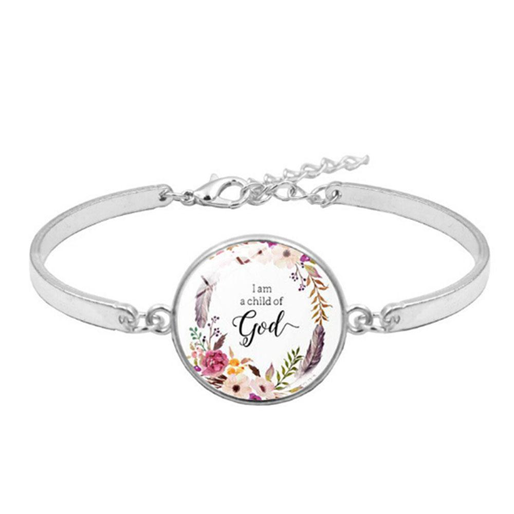 Fashion Psalm Bracelet Art Picture Print Glass Dome Charms Bracelet Bible Verse Quote Jewelry Gift For Christian