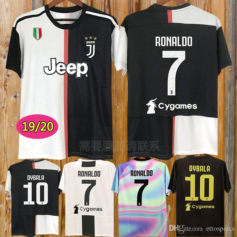 the latest c65ed 0d51e New 2019 RONALDO JUVENTUS Soccer Jersey 18 19 20 JUVE 2020 Home Away DYBALA  HIGUAIN BUFFON Camisetas Futbol Camisas Maillot Football Shirt