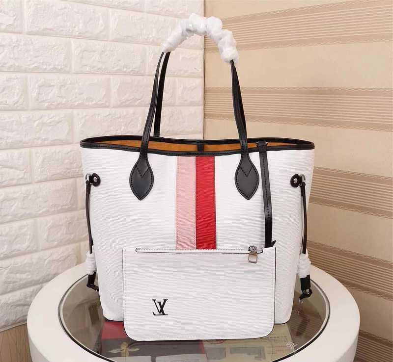 M53763 New Women Fashion White Shopping Bag Handbag Shoulder Bags Hobo Handbags Top Handles Boston Cross Body Messenger Shoulder Bags