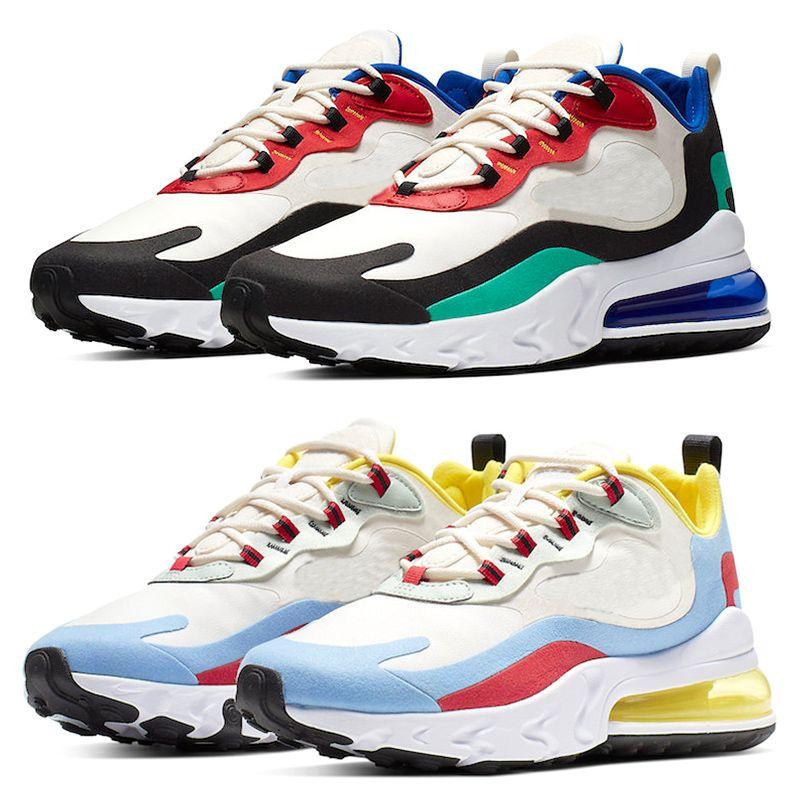 Nike Air Max 270 React 2018 Classical Huarache 4 Running Shoes Huaraches 1 Mujeres para hombre Triple Black White Red Green Mesh Sports Casula
