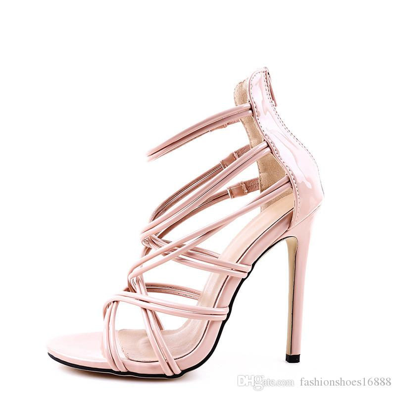 3c210a96820 Cross Straps Sandals High Heels Gladiator Womens Summer Shoes Woman 2019  Sexy European American Style Peep Toe Stiletto Summer Sandals Gold Platform  Shoes ...