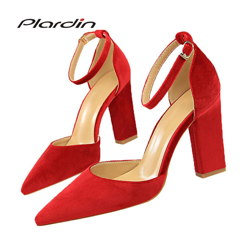 a71982ac48 Dress Plardin New Wind Retro Woman Shoes With High Heel Asakuchi Tip Color  Mixed With A Single Woman Pumps Women Shoes High Heel Mens Loafers Formal  Shoes ...