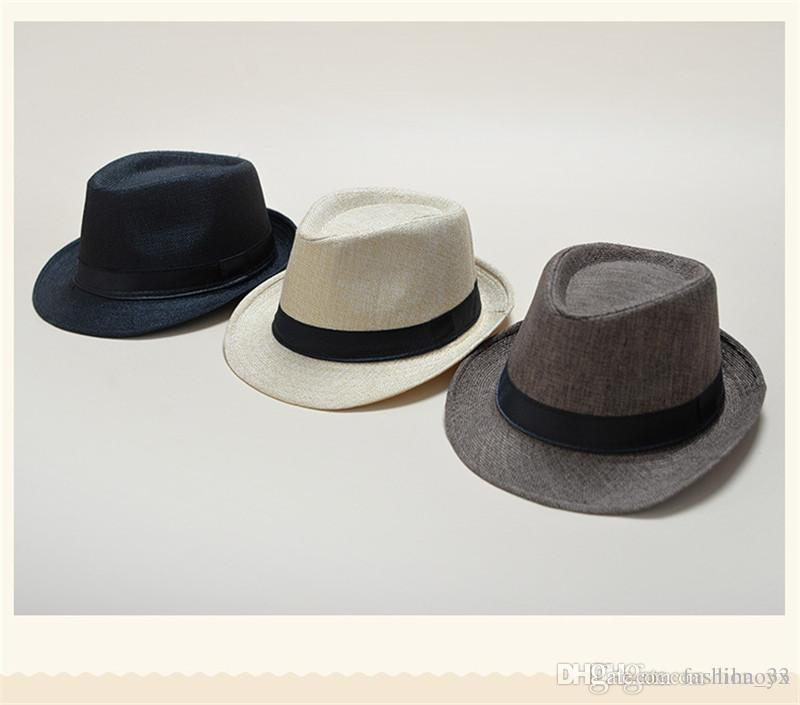 88f13795c868d 2019 Vogue Men Women Soft Fedora Panama Hats Cotton Linen Straw Caps  Outdoor Stingy Brim Hats Spring Summer Beach TO662 From Fashion 33
