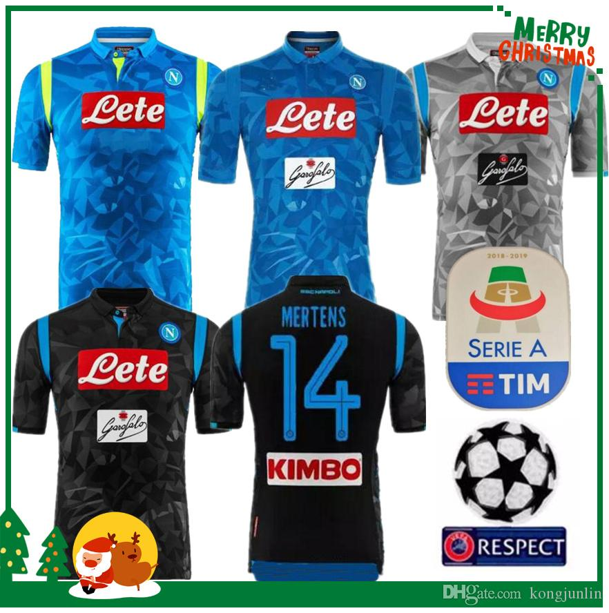 newest 849ab 63177 2018 2019 Serie A Naples New Napoli home soccer jerseys Napoli blue  football Jerseys Shirt for men 18 19 HAMSIK L.INSIGNE PLAYER Shirt
