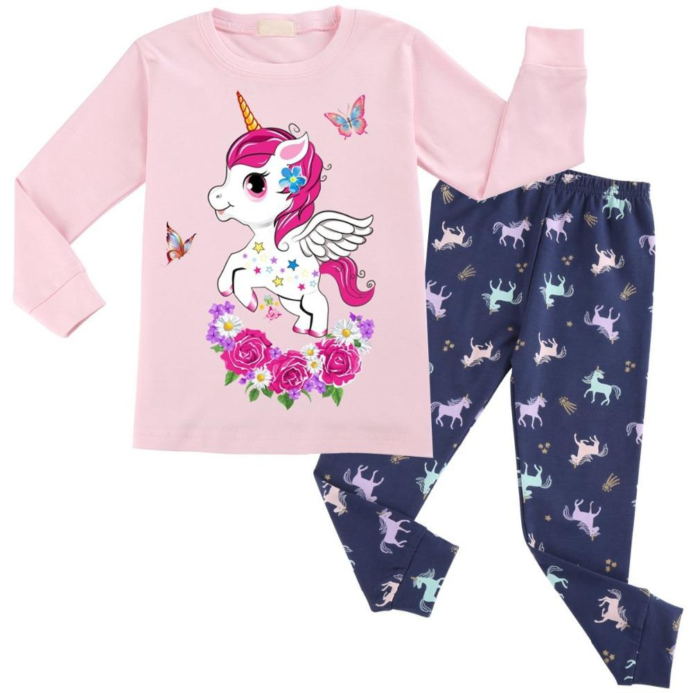 372bf7a1288d3 Unicorn Cotton Baby Girls Clothes Winter Newborn Baby Clothes Set 2PCS  Cartoon Baby Boy Clothes Unisex Kids Clothing Sets