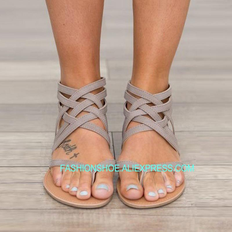 Sandalias Planas De Tallas Grandes 2018 Para Mujer Playa Gladiador Verano Chanclas Zapatos Las Mujeres 0kX8nPwO