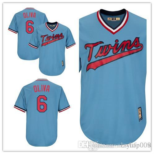 a2200ce35 2019 Men'S Twins 6 Tony Oliva Majestic Light Blue Cooperstown ...
