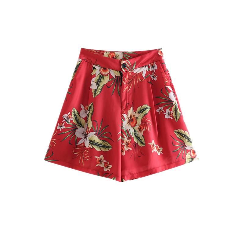 Sf1009-Western Style WOMEN'S Dress 2019 Summer New Style Printed Shorts 2636329