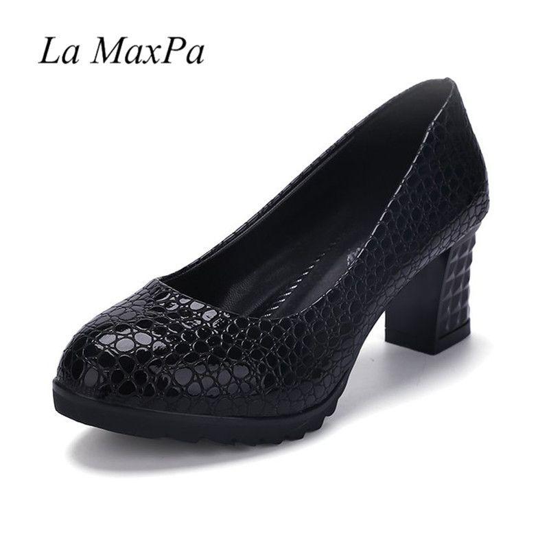 67a1a13629b0 Designer Dress Shoes La MaxPa Autumn High Heels Russian For Women Pumps  Patent Leather Platform Party Wedding Size 35 40 Casual Mens Shoes Online  Mens Dress ...