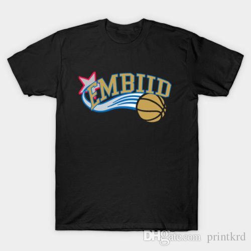 48da33de4 New Embiid 01 Sixers Men S T Shirt Black Designer White Tee Shirts Cool T  Shirts Buy Online From Printkrd