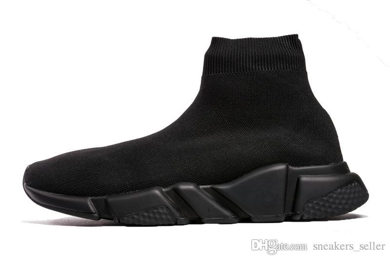 Designer Sneakers Speed ​​Trainer Nero Rosso Gypsophila Triple Black Fashion Flat Sock Boots Scarpe casual Speed ​​Trainer Runner con DustBag