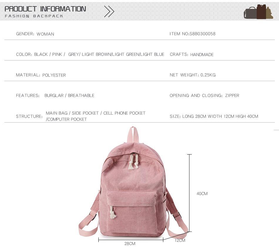 CARCHI New Women Backpack Fashion School Bag For Teenage Girls Cute Student Backpacks Velour Casual Ladies Schoolbag mochila