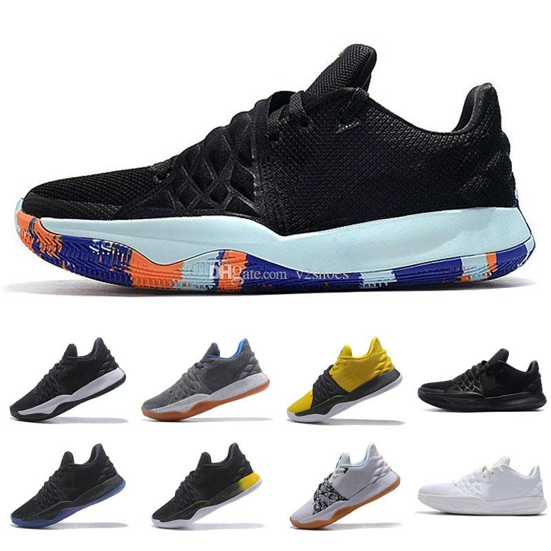 5050889d4554 Cheap Mens Kobe Low Cut Basketball Shoes For Sale Triple Black White Multi  Color Flytrap Elite Irving 4 IV Sneakers Shoes Jordans Sneakers On Sale  From ...