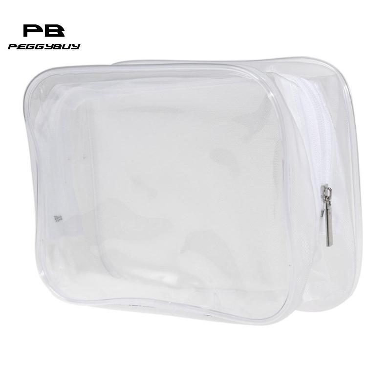 16571259565f Transparent Cosmetic Bag Women Travel Waterproof Wash Toiletry Bags Makeup  Organizer Case For Cosmetics Make Up Box Necessaries C19042101