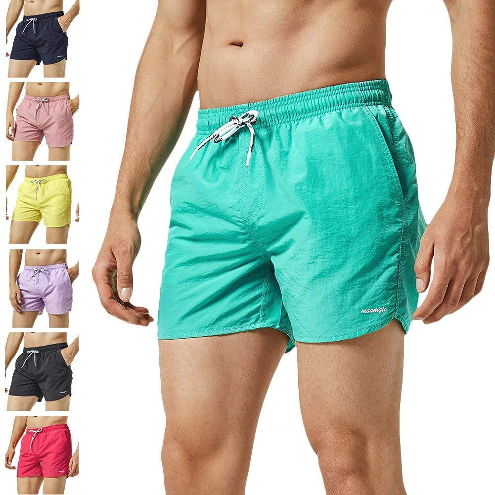 18af44ebc7b48 2019 MaaMgic Mens Slim Fit Shorts Quick Dry Swim Trunks With Mesh Lining  Male Bathing Suits From Ounijiang, $59.9 | DHgate.Com