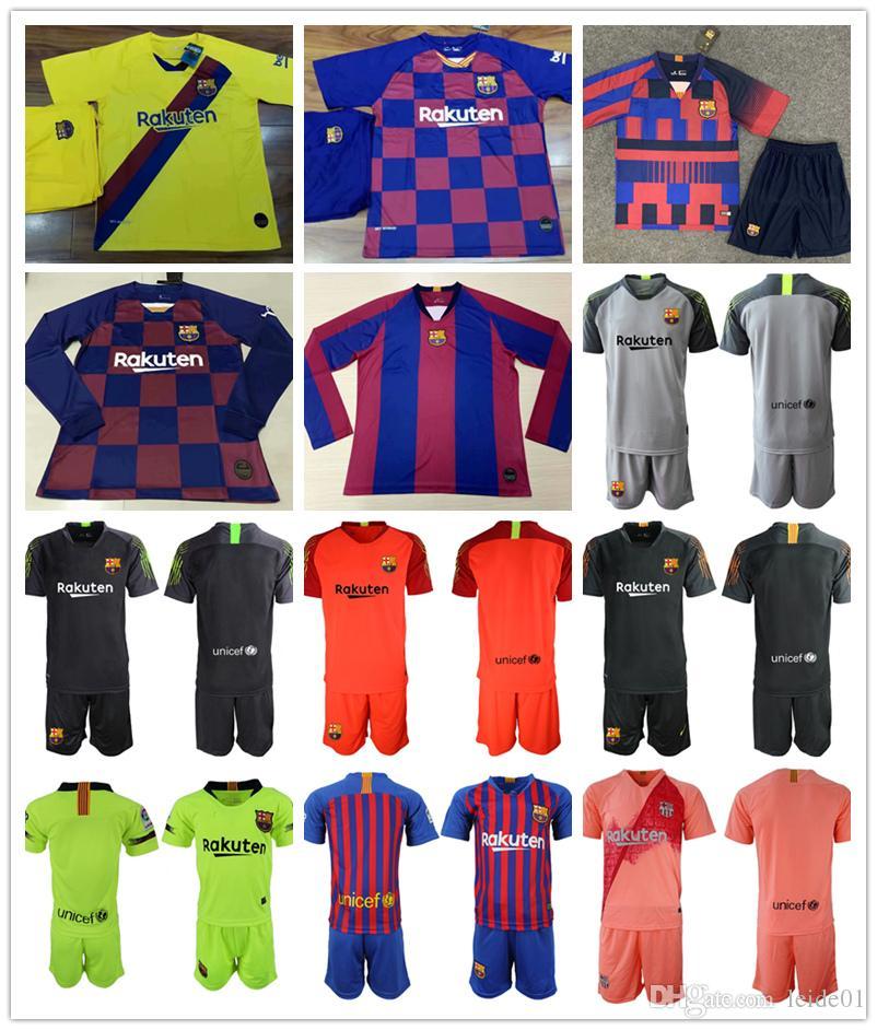 best loved 7fbfb ede7c camiseta maillot de goalkeeper 2020 MESSI Soccer jersey Suárez INIESTA  DEMBELE COUTINHO fc barcelona Shirt football Long sleeve man Kit