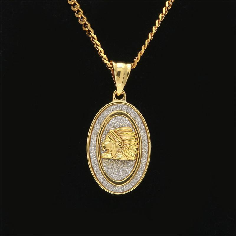 Fashion Angel Necklace Native American Pendant Necklaces Mens Luxury Full Diamond Gold Plated Chains AG Charm Necklaces Birthday Gift