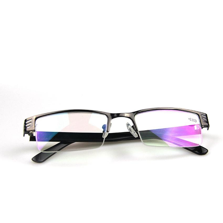 b396863cec4 Half Frame Reading Glasses Women Metal Optical Mirror Glasses Anti ...