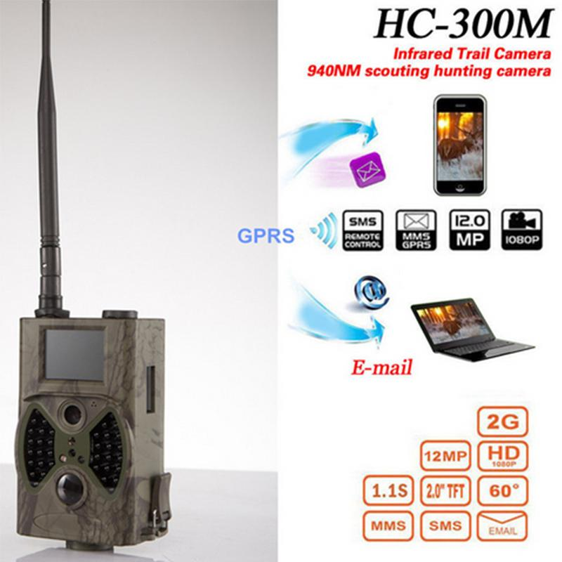 HC300M 12MP 1080P 940nm Trail Camera MMS GPRS Escotismo Câmera de caça photoTraps Hunter Câmeras Night Vision Wildlife Camera