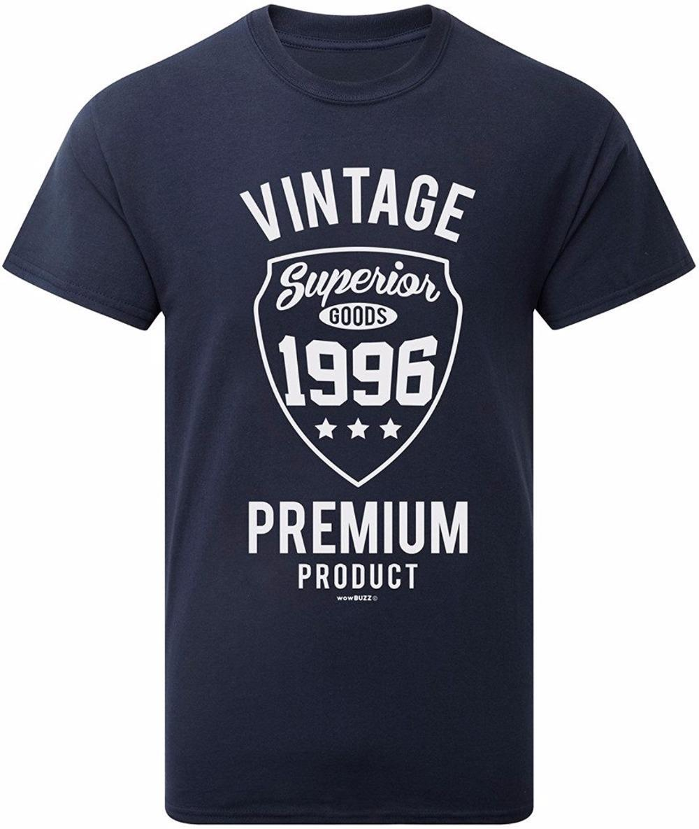 Order T Shirts O Neck Men Vintage 1996 Mens 21st Birthday Gift Shirt Design Short Sleeve Personalized Logos From Jie038