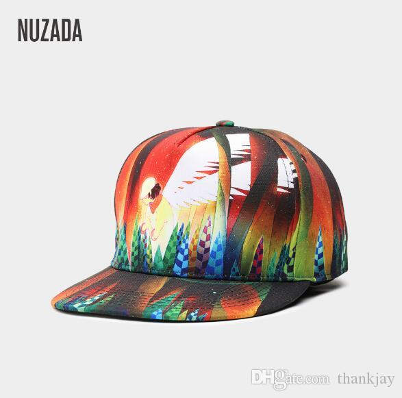 2dfd6ff58f7ae NUZADA Exclusive Original 3D Printing Hip Hop Cap Men Women Couple Cute  Spring Summer Caps Flexfit Hats For Men From Thankjay