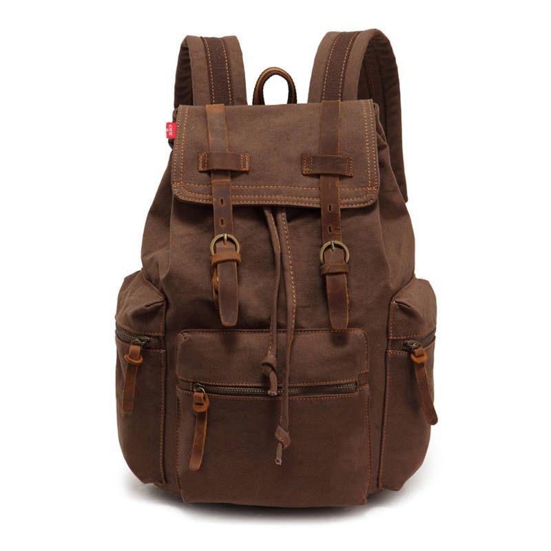 c76513238 New Men S Backpack Vintage Canvas Bag School Bag Men S Travel Bags ...