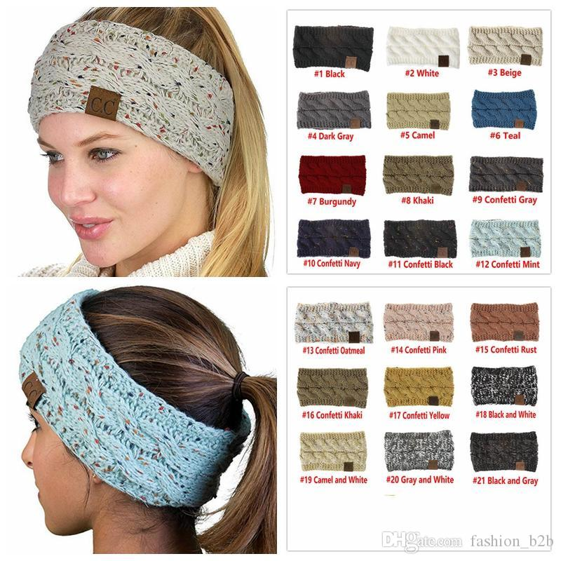 CC Knitted Crochet Headband Women Winter Sports Headwrap Hairband Turban  Head Band Ear Warmer Beanie Cap Headbands Ski Hats Newborn Hats From  Fashion b2b 55ec55905