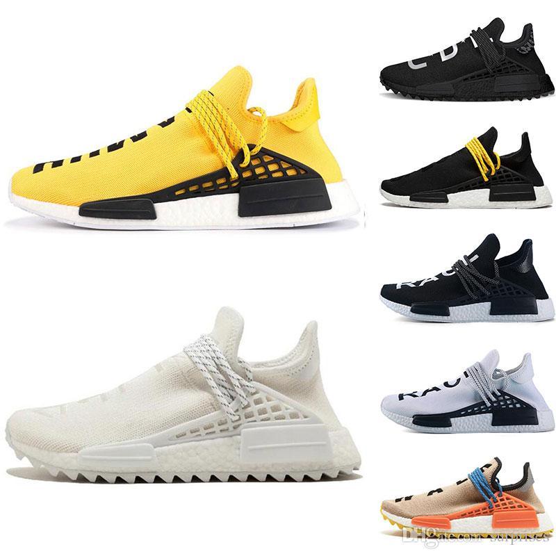 1674324c0 2019 Designer Human Race Hu Trail Pharrell Williams Running Shoes Nerd  Black Cream Holi Trainers Mens Women Sports Runner Sneaker Size 5 12 Sports  Shoes ...